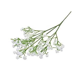 Silk Flower Arrangements F-pump 90Heads 52Cm Babies Breath Artificial Flowers Plastic Gypsophila DIY Floral Bouquets Arrangement for Wedding Home Decoration-White-2Bunches