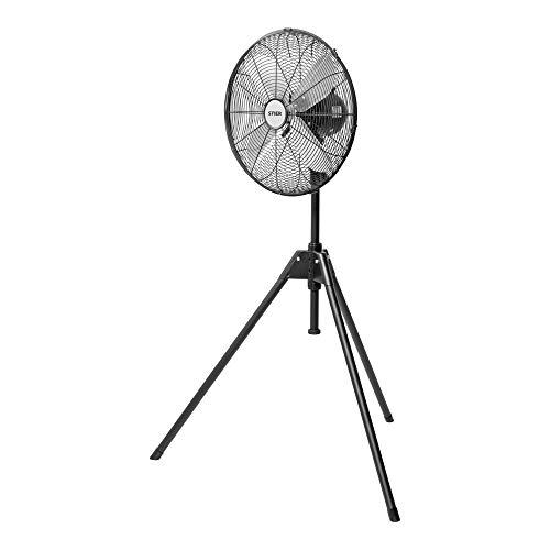 STIER Standventilator mit Dreibein-Stativ, 50W, Ø400mm, stufenlos höhenverstellbar, 3 Geschwindigkeitsstufen