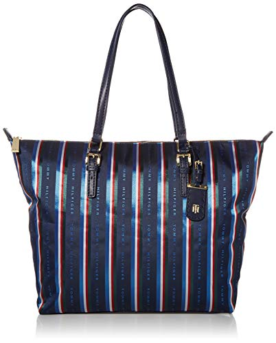 Tommy Hilfiger Julia Zippered Tote, Navy/Multi
