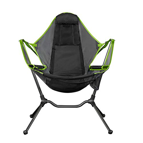 lefeindgdi Folding Camp Chair, Camping Swing Luxury Recliner, Relaxation...
