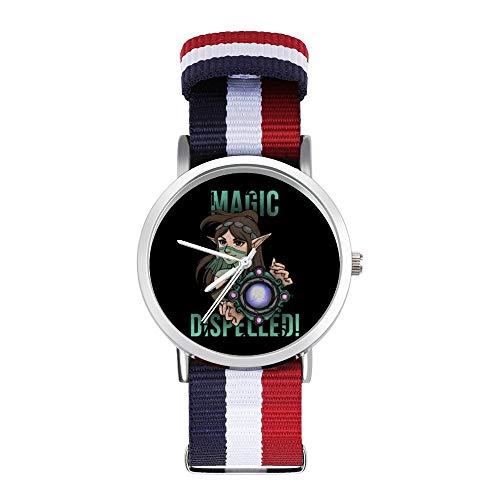 Magic Dispelled Ying Paladins Freizeit-Armbanduhr, geflochtene Uhr mit Skala