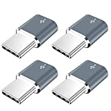 USB Type C Adapter,JXMOX (4-Pack) Micro USB Female to USB C Male Convert Connector Fast Charging Compatible with Samsung Galaxy S10 S9 S8 Plus,Note 9 8,Pixel 2 3 XL,LG V40 V20 G5,Moto Z2 Z3(Grey)