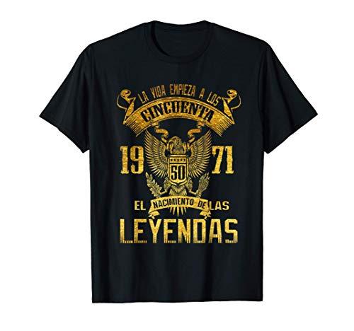 Hombre Camisetas 50 anos Hombre Leyendas 1971, cumpleanos dady papa Camiseta