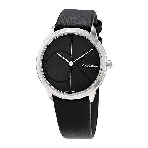 Calvin Klein Reloj Analógico para Mujer de Cuarzo con Correa en Cuero K3M221C3