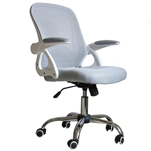 Schreibtisch BüRo Computer Stuhl Grau Ergonomischer Mesh Stuhl Verdickungskissen 360 ° Drehstuhl Lernstuhl