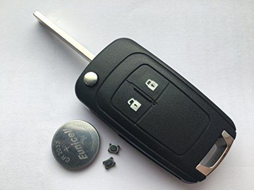 Automobile Locksmith Kit – Coque de clé pliable à 2 boutons pour Opel Insignia Astra Mokka