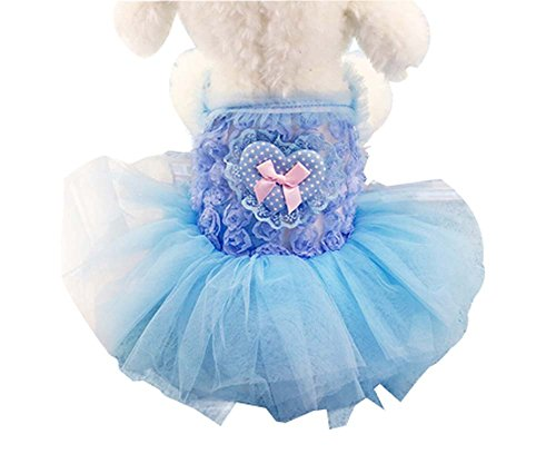 Mode Grenadine Princesse Jupe Animaux Apparel BlueStyle Chiens Vêtements, XS