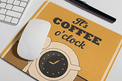 Lustiges Zitat Mauspad - Es ist Kaffee O 'Uhr - Nettes Mousepad Frauen Schreibtisch Zubehör Bürobedarf Geschenk für Mitarbeiter Chef - Kaffee - Pause A474