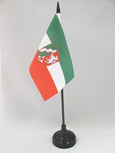AZ FLAG TISCHFLAGGE Nordrhein-Westfalen 15x10cm - Nordrhein-Westfalen TISCHFAHNE 10 x 15 cm - flaggen