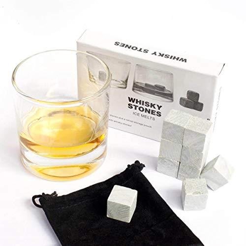 9er SET Whisky Steine aus Speckstein - Original Whiskey Stones Kühlsteine - 2