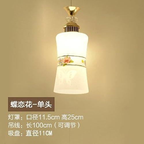 LuckyLibre Centre commercial simple suspension Art Bar Cafe Restaurant Cuisine Chambre couloir plafond Lustre Lampe éclairage,Bleu Ciel