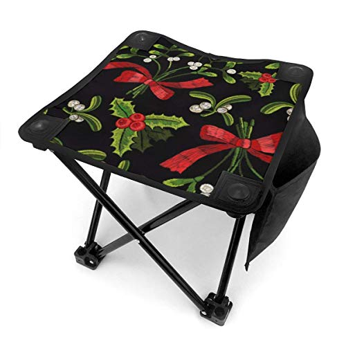 JKSA Camping Stool Folding Christmas Tree Yew Art Gift Portable Chair Camping Hunting Fishing Travel with Carry Bag