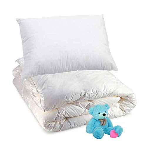 4.5 Tog Cot Bed Duvet Kids 100% Combed Cotton Hollow Fiber Toddler Duvet And Pillow Set Baby Cot Baby Bedding Set Warm Soft & Cozy Quilts | Kids Blanket Comfortable & Better Sleep 120x150 cm