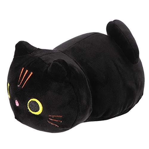 Tomaibaby Gato de Felpa Almohada para Abrazar Gatito Suave Gatito Animales de Peluche Juguete de Peluche Animado Gatos para Niñas Bebé Niños Negro