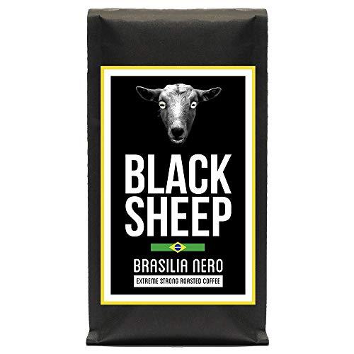 Black Sheep Coffee - Brasilia Nero 400g | Ganze Bohnen aus Brasilien | Sehr kräftiger Kaffee mit wenig Säure | sehr dunkle Trommelröstung | Nicht für schwache Gemüter und schwangere Frauen empfohlen
