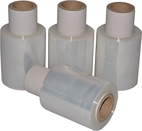 Freiziel® 40 Mini-Rollen Beste-Folie Stretchfolie 23my 100mmx150m - 0,370 Kg Handfolie Wickelfolie (transparent)