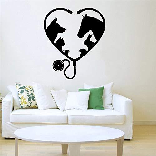 Calcomanía de pared para ventana de salón de aseo, Animal, mascota, Medicina veterinaria, decoración Interior, pegatinas artísticas de vinilo, extraíbles, autoadhesivas