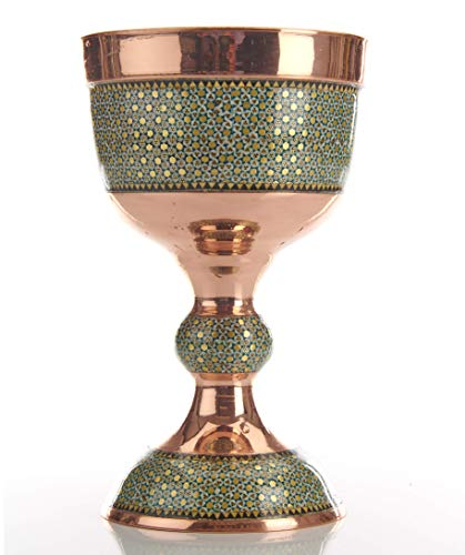 LPUK Lujo Taza De Grial Series 2 Persa Exquisito Cobre KHATAM Cáliz Altura del cáliz: 20 cm Peso: 712 GR DIÁMETROS: 15 cm y 12 cm