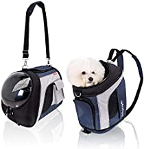 ibiyaya Airline Approved Pet Carrier Backpack Soft Sided Tote for Small to Medium Dogs & Cats