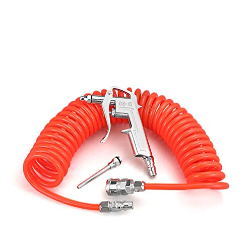 piaopiao Componentes neumáticos 1/4'Pistol de soplado neumático Smower Smower Duster Limpia Limpieza Spray 8x5 Pistola con Manguera de Aire Conector Tubo (Color : B, Length : 12 Meter)