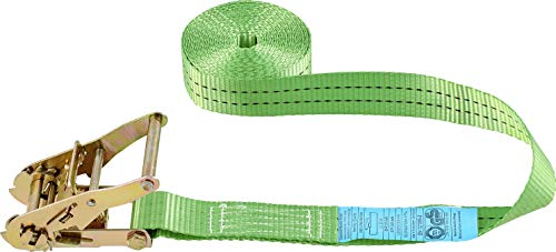 Connex Zurrgurt - Einteilig - 5 m x 38 mm - 2000 kg maximale Belastbarkeit - Mit Spannratsche, ohne Haken - Aus Polyester / Spanngurt / Ladungssicherung / Ratschengurt / B34419