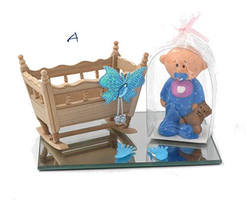 originelles Geldgeschenk Geschenk zur Taufe Geburt mit Holzwiege und Baby DEKO