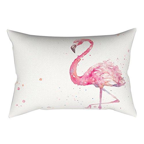 verlike 30x 50cm Kissenbezug Kissenbezüge Kissen Schutzhülle Flamingo-Design Sofa Bett Home Dekor, Polyester, 1#, 30cm x 50cm