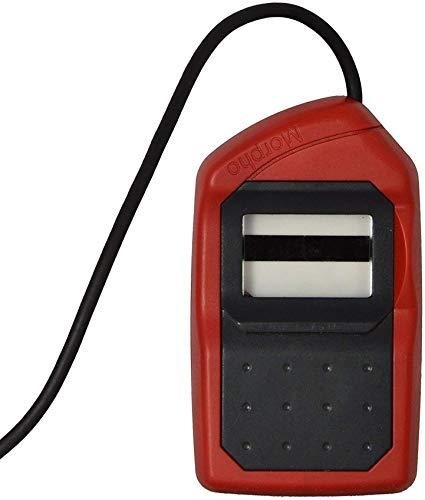 Morpho SRPL MSO 1300 E3 Bio Metric Fingerprint Scanner with RD Service (14x22 mm, Red and black)