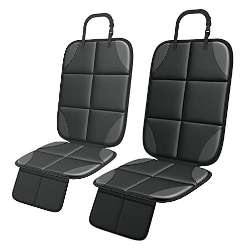 2 stück Kindersitzunterlage, ISOFIX geeignete Unterlage für Kindersitze, Mit Anti-Rutsch Funktion Autositzschoner