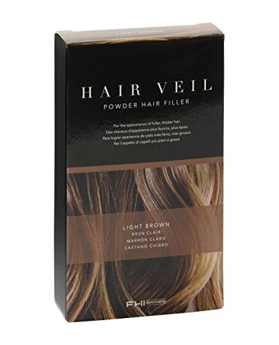 FHI Heat Hair Veil Powder Hair Filler, Light Brown