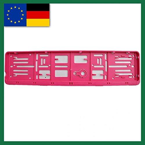 Farbe-EU-NORM-110X520-Deutschland 2er Set und alle Normländer-W-Kennzeichenrahmen Pink für 1 Kfz.
