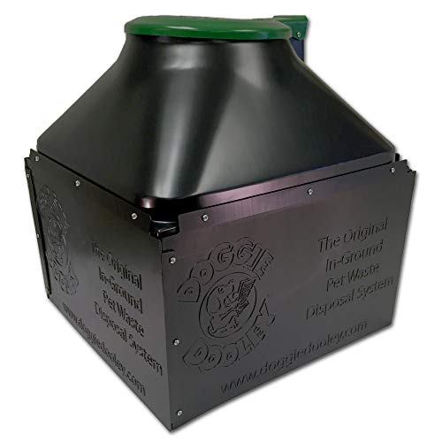 Doggie Dooley 'The Original In-Ground Dog Waste Disposal System, Black with Green Lid