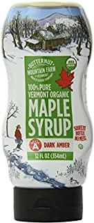 Butternut Mountain Farm 100% Pure Vermont Organic Maple Syrup, 12 Ounce Bottle (Pack of 4)