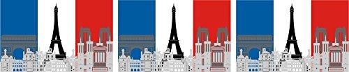 Etaia 2,5x4 cm - 3X Mini Aufkleber Fahne/Flagge von Frankreich Paris Eiffelturm kleine Europa Länder Sticker Auto Fahrrad Motorrad Bike