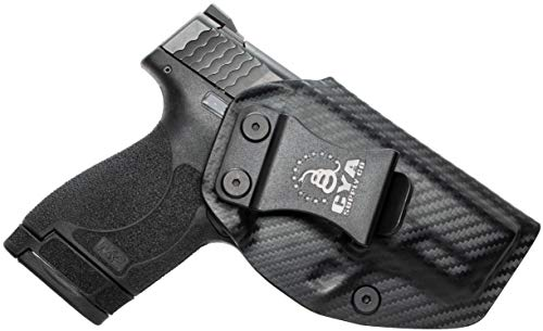 CYA Supply Co. Fits S&W M&P 9/40 Shield M2.0 Inside Waistband Holster Concealed Carry IWB Veteran Owned Company (Carbon Fiber, 053- S&W M&P 9/40 Shield M2.0)