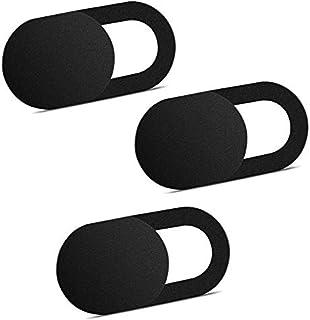 ivoler [3 Unidades Cubierta Webcam, Webcam Cover Slider Diseño Ultra Fino Camera Cover Tapa Webcam para Todo Tipo de Ordenadores Portátiles, Tabletas y Móviles Inteligentes - (Negro)