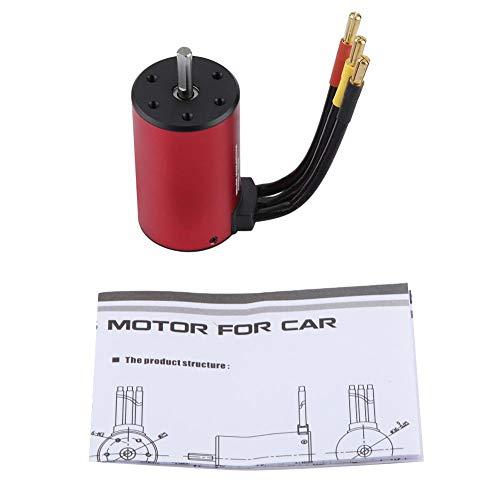 SOULONG 3660 3800 KV Elektromotor bürstenloser Motor Kostüm Geschwindigkeitsregler ohne Richtung Elektromotor Brushless LKW RC 1/10 für LKW für Rennfahrer, Rot