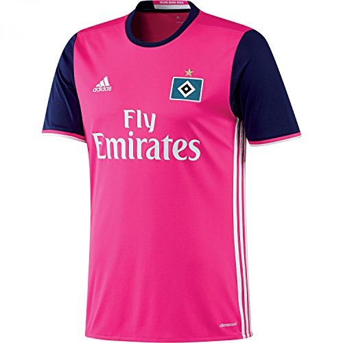 adidas Herren HSV Auswärts Trikot, Shock Pink/White, XL