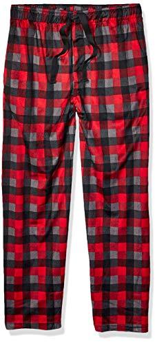 IZOD Men's Matte Silky Fleece Sleep Pant, Black, Large