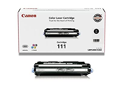Canon Genuine Toner, Cartridge 111 Black (1660B001), 1 Pack, for Canon Color imageCLASS MF9150c, MF9170c, MF9220Cdn, MF9280Cdn Laser Printers