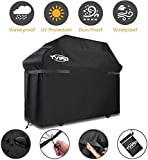 9. BBQ Grill Cover, Tvird Gas Grill Covers | 58-inch Light Duty Waterproof BBQ Cover | Fits Grills for Weber Char-Broil Nexgrill Brinkmann, Windproof, Rip-Proof, Weather & UV Resistant with Storage Bag