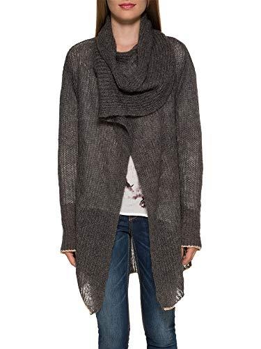 SOCCX Damen Cardigan mit integriertem Schal