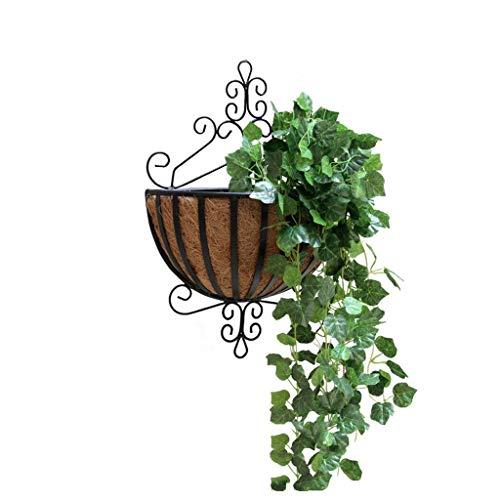 Zml Europese Smeedijzer Binnen Outdoor Opknoping Chlorophytum Groene Woonkamer Buiten Muur Opknoping Fleshy Bloempot Plank hgfhfg Zwart