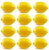 Panxxsen 12 Pcs Fake Yellow Lemons,Lifelike Realistic Fake Fruit,Suitable for Cognitive Tools,Toys,Home House Kitchen Party Decoration,Photography