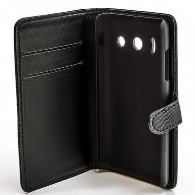 numerva Bookstyle Handytasche kompatibel mit Huawei Ascend Y300 Schutzhülle PU Ledertasche für Huawei Ascend Y300 Hülle mit Kartenfach Schwarz - 5