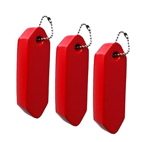 freneci Llavero Flotante de Vela Roja con Revestimiento de Vinilo 3X para Canotaje