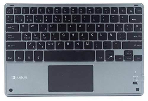 SUBBLIM Smart Backlit BT Keyboard TOUCHPAD Grey: Amazon.es: Informática