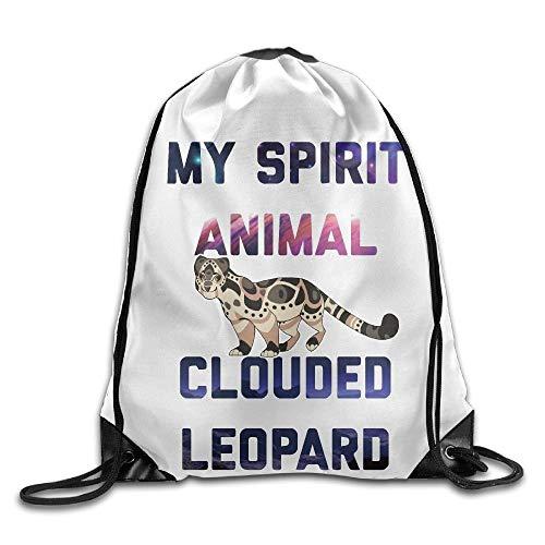 NA My Spirit Animal Clouded Leopard Unisex Thuis Rugzak Schoudertas Sport Trekkoord Rugzak