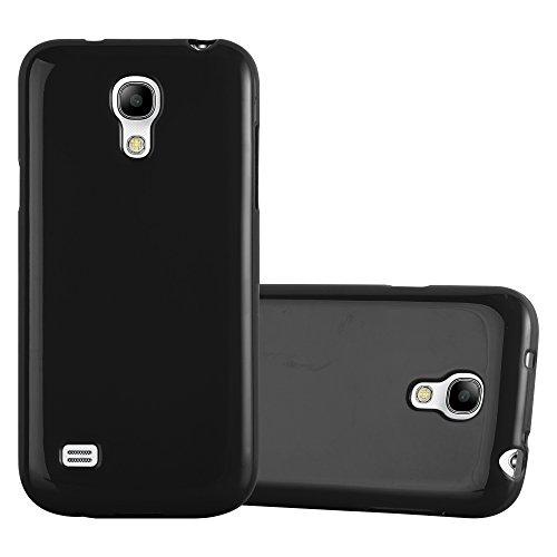 Cadorabo Funda para Samsung Galaxy S4 Mini en Jelly Negro - Cubierta Proteccíon...