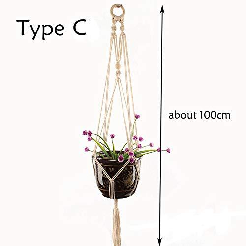 Trendy household hangende plantenmand goede kwaliteit 100% handgemaakte planten hangende rankjes binnenpot hangers werkhanger bloempot -mand hangend touw